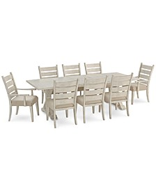 Trisha Yearwood Home Coming Dining 9-Pc. Set (Dining Table, 6 Side Chairs & 2 Arm Chairs)
