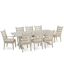 Homecoming Dining Furniture, 9-Pc. Set (Dining Table, 6 Side Chairs & 2 Arm Chairs)