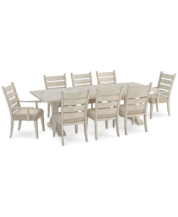Furniture Trisha Yearwood Coming Home Dining Furniture, 9-Pc. Set (Dining Table, 6 Side Chairs & 2 Arm Chairs)