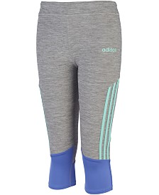 adidas Big Girls Striped Capri Tights