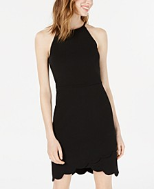 Juniors' Scalloped Sheath Dress