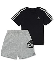 adidas Little Boys 2-Pc. Cotton Logo-Print T-Shirt & Shorts Set