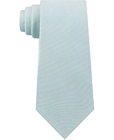 Calvin Klein Men's Slim Solid Silk Tie