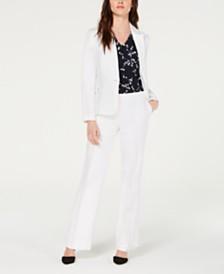 Nine West One-Button Jacket & Wide-Leg Pants