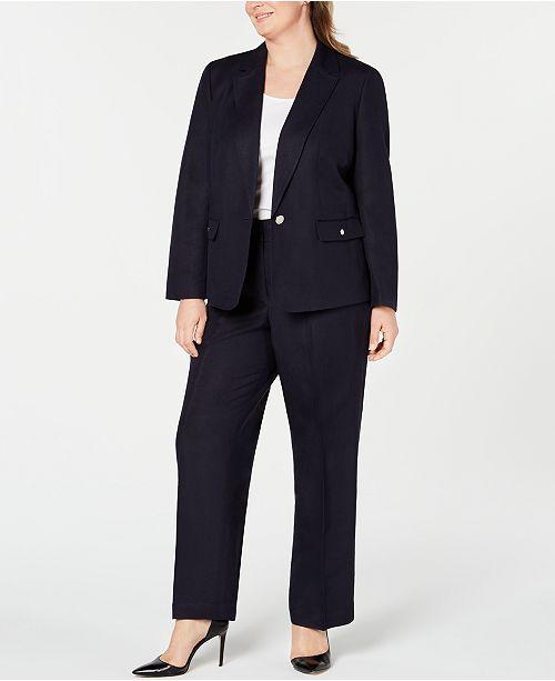Nine West Plus Size One-Button Jacket & Lightweight Pants