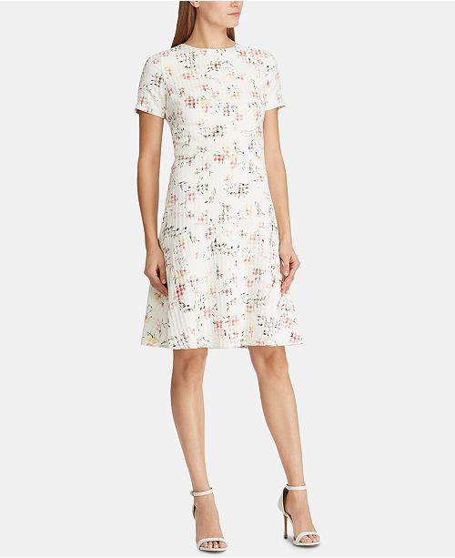 Lauren Ralph Lauren Floral-Print Jacquard Dress