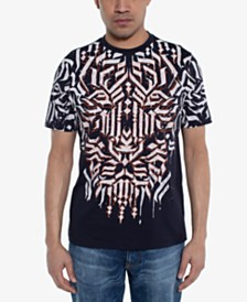 Sean John Men's Calligraphy Lion Graphic T-Shirt