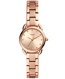 Fossil Women's Mini Tailor Rose Gold-Tone Stainless Steel Bracelet Watch 26mm