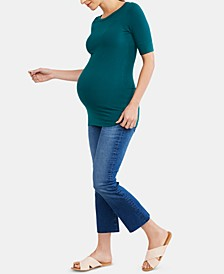 Maternity Cropped Boot-Cut Jeans