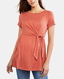 Maternity Tie-Front Top