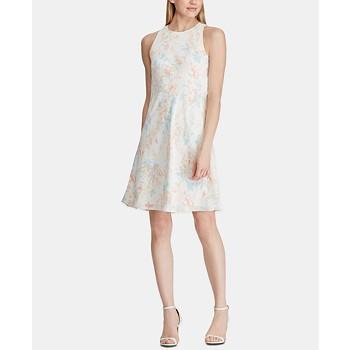 Lauren Ralph Floral Print A Line Dress