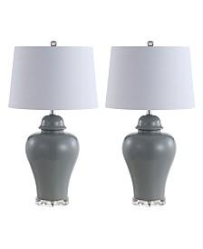 JONATHAN Y Winnie Ceramic Urn LED Table Lamp - Set of 2