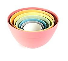 Seven Piece Pastel Nesting Bowls