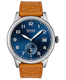 Men's Legacy Brown Leather Strap Watch 44mm