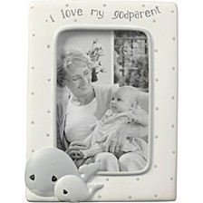 Whale I Love My Godparent 4 x 6 Resin & Glass Photo Frame 183408
