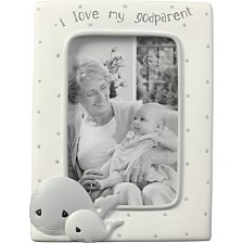 Precious Moments Whale I Love My Godparent 4 x 6 Resin & Glass Photo Frame 183408