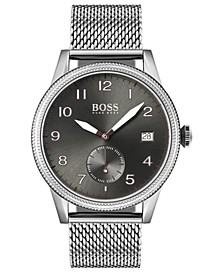 Men's Legacy Stainless Steel Mesh Bracelet Watch 44mm