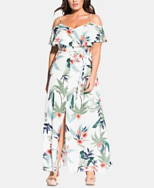 City Chic Trendy Plus Size Bahamas Maxi Dress