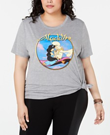 Love Tribe Trendy Plus Size Aladdin Graphic-Print T-Shirt