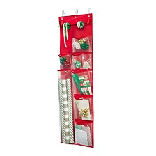 Over-The-Door Wrapping Paper Organizer