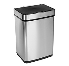 50L Stainless Steel Trash Can with Motion Sensor and Soft Close