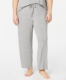 Alfani Plus Size Ribbed Knit Pajama Pants, Created for Macy's