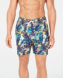"Men's Naples Zocca Fronds Printed 6"" Swim Trunks"