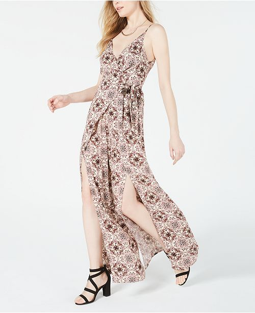 Cotton Candy Printed Vented Wide-Leg Jumpsuit