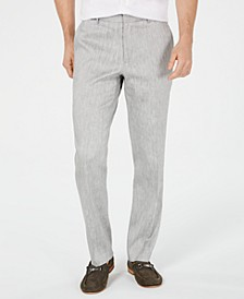 Men's Herringbone Linen Stretch Pants, Created for Macy's
