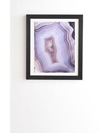 Deny Designs Purple Gem Framed Wall Art