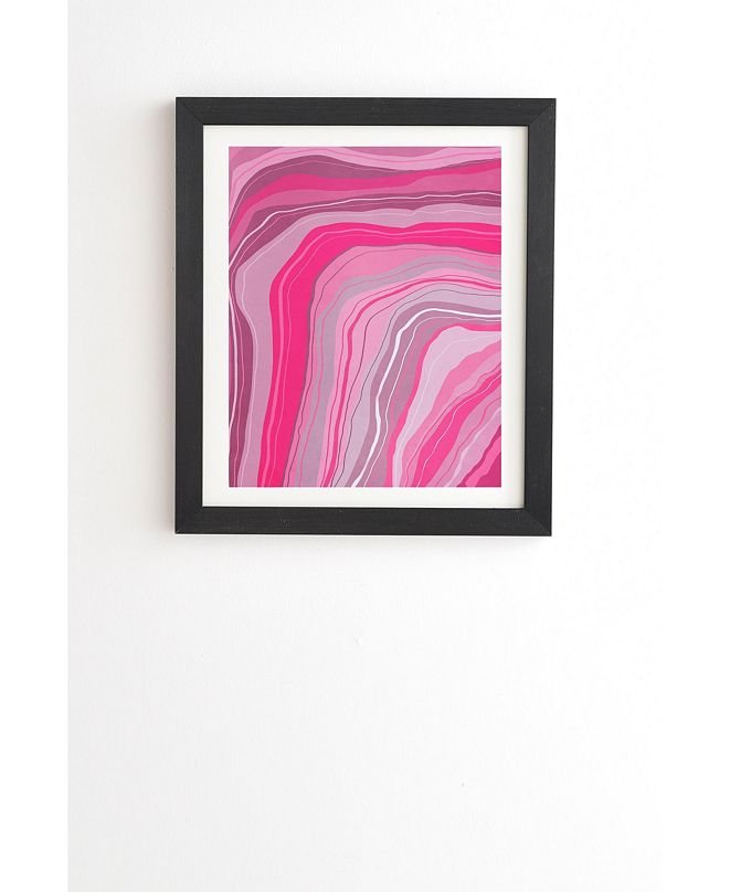 Deny Designs Agate Inspired Abstract 01 Framed Wall Art