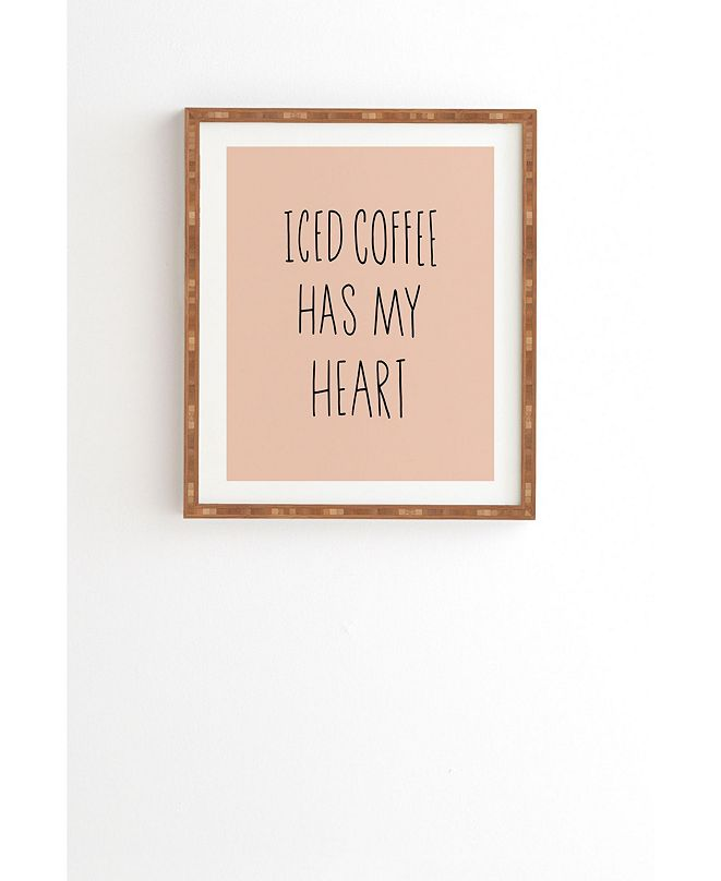 Deny Designs Iced Coffee Has My Heart Framed Wall Art
