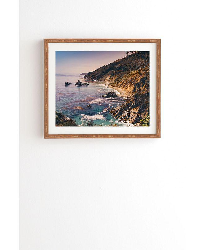 Deny Designs Big Sur Pacific Coast Highway Framed Wall Art