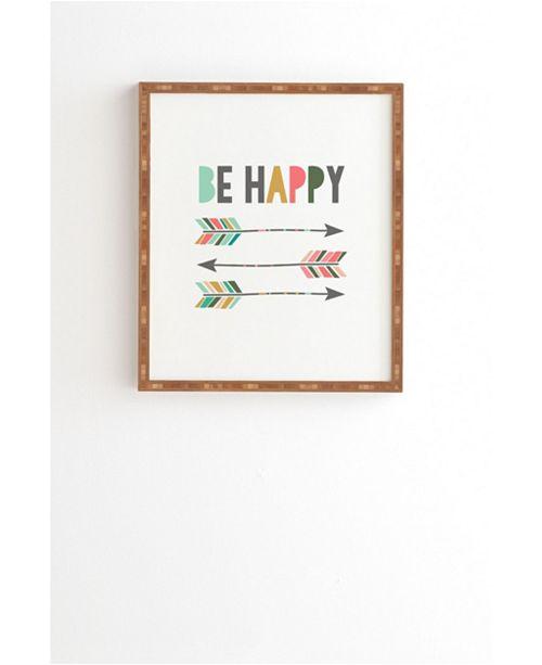 Deny Designs Be Happy Framed Wall Art