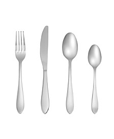 Delia Mirror 16-Piece Flatware Set with Caddy,  Service for 4