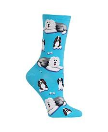 Hot Sox Women's Dog & Bones Fashion Crew Socks