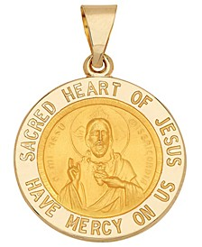 Sacred Heart of Jesus Medal Pendant in 14k Yellow Gold