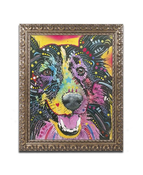 "Trademark Global Dean Russo 'Smiling Collie' Ornate Framed Art - 14"" x 11"" x 0.5"""