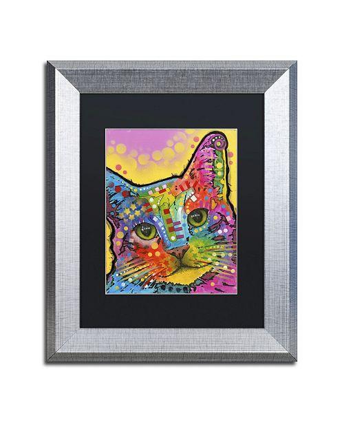 """Trademark Global Dean Russo 'Tilt Cat' Matted Framed Art - 14"""" x 11"""" x 0.5"""""""