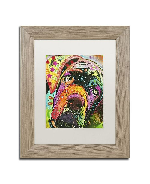 """Trademark Global Dean Russo 'Old Droopyface' Matted Framed Art - 14"""" x 11"""" x 0.5"""""""
