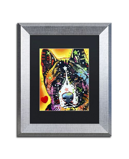 "Trademark Global Dean Russo 'Akita' Matted Framed Art - 14"" x 11"" x 0.5"""