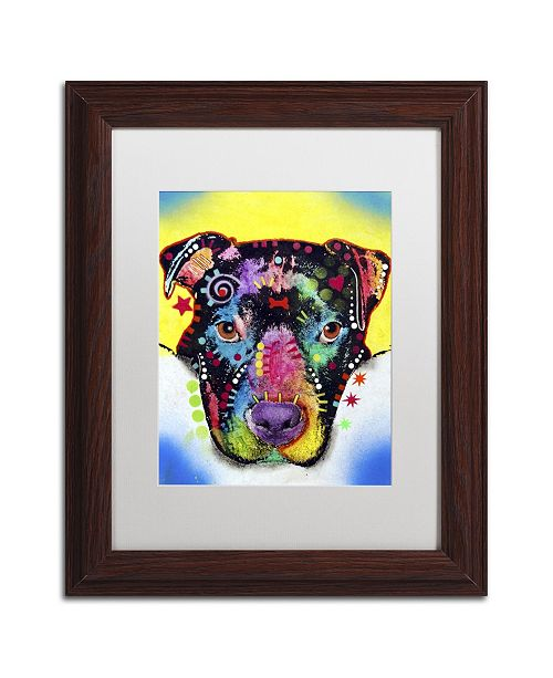 "Trademark Global Dean Russo 'Otter Pitbull' Matted Framed Art - 14"" x 11"" x 0.5"""