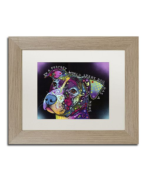 """Trademark Global Dean Russo 'In a Perfect World' Matted Framed Art - 14"""" x 11"""" x 0.5"""""""