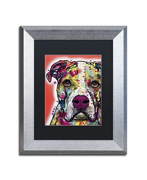 "Trademark Global Dean Russo 'American Bulldog' Matted Framed Art - 14"" x 11"" x 0.5"""
