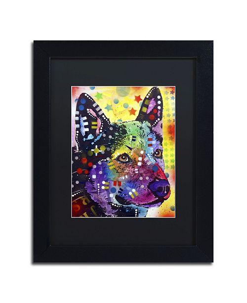 """Trademark Global Dean Russo 'Aus Cattle Dog' Matted Framed Art - 11"""" x 14"""" x 0.5"""""""