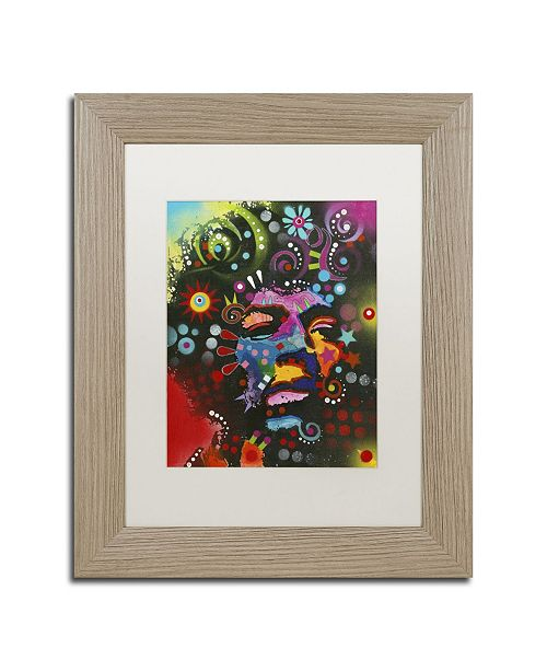 "Trademark Global Dean Russo 'Jimi Hendrix' Matted Framed Art - 14"" x 11"" x 0.5"""