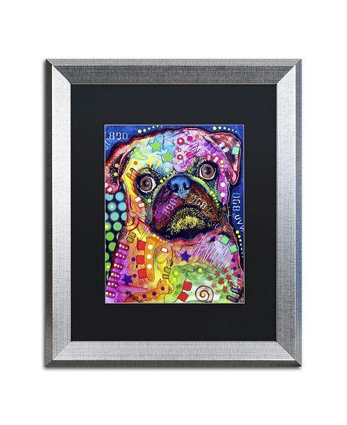 """Trademark Global Dean Russo 'Pug 92309' Matted Framed Art - 20"""" x 16"""" x 0.5"""""""