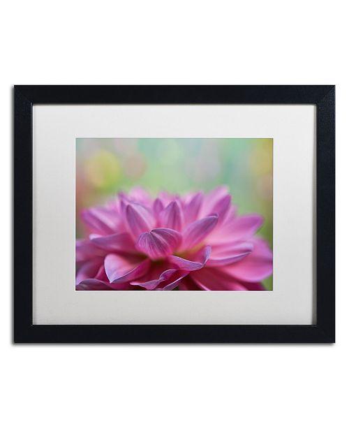 """Trademark Global Cora Niele 'Dahlia Petals' Matted Framed Art - 16"""" x 20"""" x 0.5"""""""