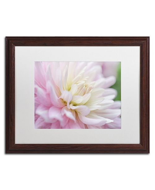 "Trademark Global Cora Niele 'White and Pink Dahlia' Matted Framed Art - 20"" x 16"" x 0.5"""