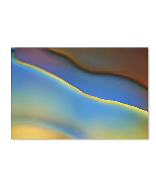"Trademark Global Cora Niele 'Blue Flow' Canvas Art - 47"" x 30"" x 2"""